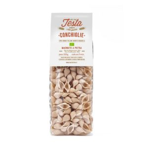 Conchiglie integrali bio di grano saragolla macinato a pietra a bassa temperatura