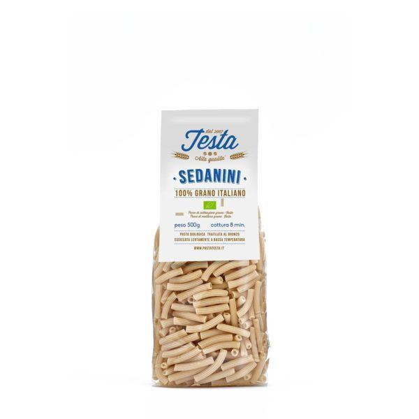 Pasta bio sedanini con grano duro 100% italiano